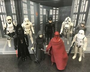 Vintage Star Wars Figures - 9 Imperials with Weapons and Accessories