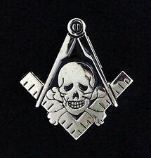 """Masonic """"Skull & Bones"""" Lapel Pin (MAS-SB)"""