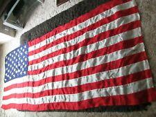 More details for vintage usa stars & stripes panel stitched flag - 50 stars