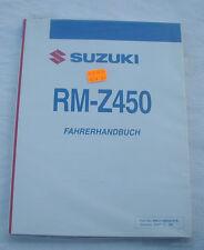 SUZUKI RMZ 450 Bj.09 Reparaturanleitung-Handbuch Werkstattbuch Fahrerhandbuch
