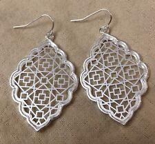 Silver Filigree Earrings Kendra + Chloe Dangle Earring  Designed by Isabel Scott