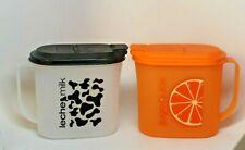 TUPPERWARE Modular 1 qt jugs / container MILK and  Orange Juice  Vintage