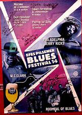 Rare, Autographed, Efes Pilsen Blues Music Festival 14, Poster, Ankara, Turkey