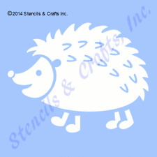 "5"" HEDGEHOG STENCIL ANIMAL WOOD FALL CRAFT TEMPLATE PATTERN PAINT ART NEW"