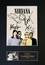 Nirvana - RARE Full Group Signed and Mounted Photograph ⭐⭐⭐⭐⭐