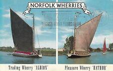 Postcard - Norfolk - Norfolk Wherries - 2 views