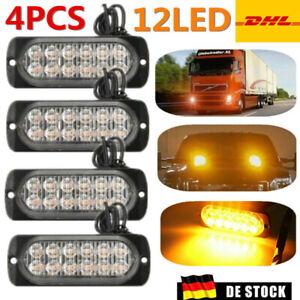 4x Auto LED Frontblitzer Warnleuchten Blitzlicht Strobe Leuchte 12-24V LKW DHL
