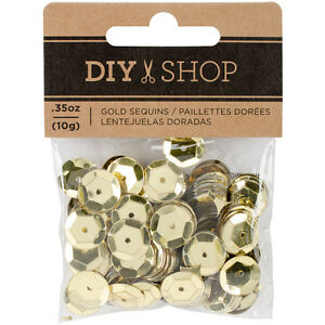 American Craft Diy Shop 4 Collection Gold Sequins,10 G