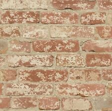 RMK9035WP Stuccoed Red Brick Peel & Stick DIY Wallpaper Decor Free Shipping