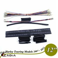 """12"""" Handlebar Wiring Harness Extension Kit For Harley Electra Glide FLHX 07-13"""