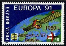 "1997 Space,Satellite ""EUTELSAT I"",Airplane,EUROPA,Surcharged,Romania,Mi.5280,MNH"