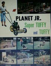 Planet Jr Tuffy Seeder Tiller Plow Color Sales Brochure Garden Tractor Manual Bp