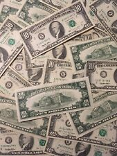 (1) $10- TEN DOLLAR FEDERAL RESERVE NOTE/BILL- OLD CURRENCY- SMALL HEADS!