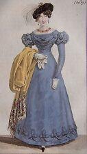 COSTUME PARISIEN, GRAVURE ORIGINALE DE 1823, COLORIS D'EPOQUE, n°2139