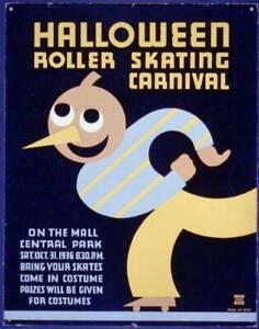 Halloween Roller Skating Carnival,Central Park,New York,Jack-o-lanterns,19 1361