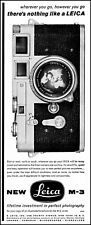 1956 Leica M-3 camera E Leitz inc New York City vintage photo Print Ad adL65