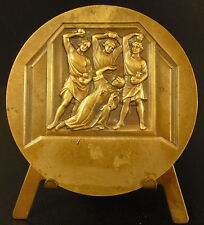 Médaille Lapidation du juif martyr Saint Etienne sc Becker 1943 stoning medal