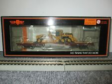 MTH #80-98022 Southern 60' Wood Deck Flat w/CAT 163H Motor Grader HO Scale NEW