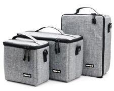 Bolsa de cámara lente bolsa caso partición acolchada con inserto para DSLR SLR Canon Nikon Sony