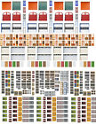 N Scale Doors and Windows Model Train Scenery Sheets – Five 8.5x11 Sheets