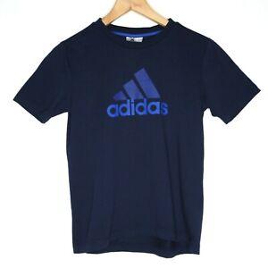 Adidas Climalite Cotton Kids Unisex T-Shirt Size Medium Blue