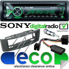 Renault Scenic 97-00 DAB Sony Bluetooth CD auto estéreo kit de dirección y Gris Fascia