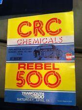 Vintage 1981 Darlington CRC Rebel 500 Nascar Program Darrell Waltrip Win