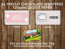 Personalised Christening Chocolate Bar Wrapper Party Favours Decoration Children