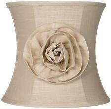 Almond Linen with Flower Drum Shade 11x12x11 Spider