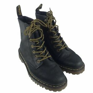 Doc Martens Air Wair Luana Women's Black Leather Boots 7 Eye US Size 7 L AW004