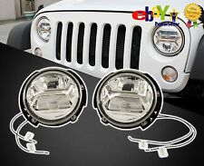 "7"" Round Headlights in Pair, FIT for Jeep Wrangler RUBICON 2007 up, OEM item"