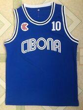 DRAZEN PETROVIC #10 jerseys Croatia Cibona men's BASKETBALL JERSEY Stitched Blue