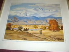 Vintage Alfred Wands Art Print 1968 Mount Evans-Guardian Of Denver Nice Rare