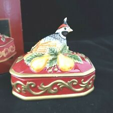 Fritz and Floyd Partridge Lidded Box