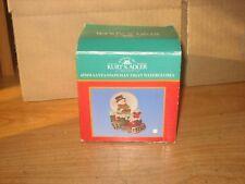 Vintage Kurt Adler 45Mm Santa/Snowman Train Glass Water Globe With Box
