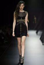 Nwt Sass & Bide Black Designer Dress Gold Detail Size 6 $732