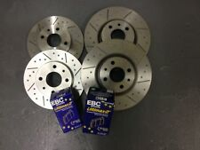 Rover MGTF 1.6 or 1.8 Grooved Performance Brake Discs & EBC UltiMAX Pads, F + R
