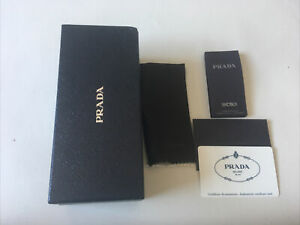 Genuine Prada Sunglasses Cardboard Box with Authenticity Card Glasses Wipe
