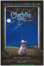 CHARLOTTE'S WEB MOVIE POSTER 2006 FILM 1ST ADVANCE DAKOTA FANNING