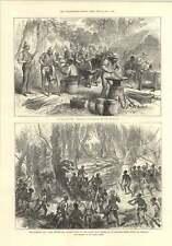 1874 Sharpening Cutlass Grindstone Anvil Ashanti Priest Warning
