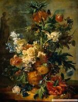 "Dream-art oil painting Jan van Huysum - A Still Life With flowers on canvas 36"""