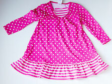 NEW Gymboree Gymmies Gown Pink Polka Dot Ruffle Size 2T NWT Heart Front