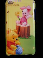 Pooh & piglet Babies Cover Case for iPod Touch 4th Gen New Eating Hunny Yellow