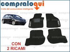 PER SEAT LEON 2 (2005>) TAPPETINI PER AUTO SU MISURA IN MOQUETTE + 2 RICAMI TOP