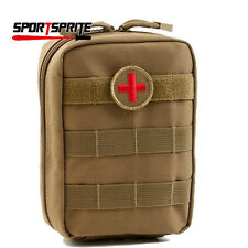 Outdoor EMT Medic Trauma First Aid Tool Pouch IFAK Emergency Bags  MOLLE Tan