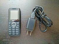 BLU Zoey T166 Cellular Cell Phone Bar Simple Black Blue (Single SIM) T-Mobile