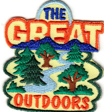 """""""THE GREAT OUTDOORS""""- IRON ON EMBROIDERED PATCH - SPORTS-HIKING-RUNNING-CYCLING"""