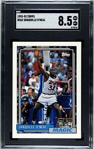 1992-93 Topps Shaquille O'Neal Rookie RC SGC 8.5 NM-MT +