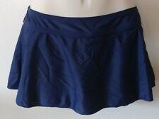 Navy Blue Skirtini Swim Skirt bathing suit swimwear full coverage Merona Small