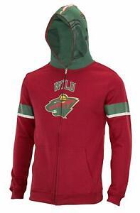 NHL Youth Minnesota Wild Full Zip Helmet Masked Hoodie